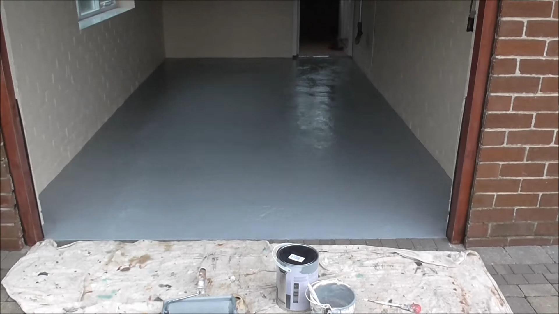 Painting a garage floor snap goods